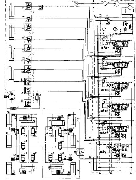 当操纵换向阀手柄或者操纵遥控器上的电位器控制手柄使得换向阀阀芯